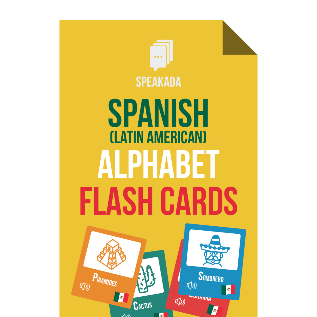 Spanish Alphabet Flashcards: Anki for Beginners | SPEAKADA