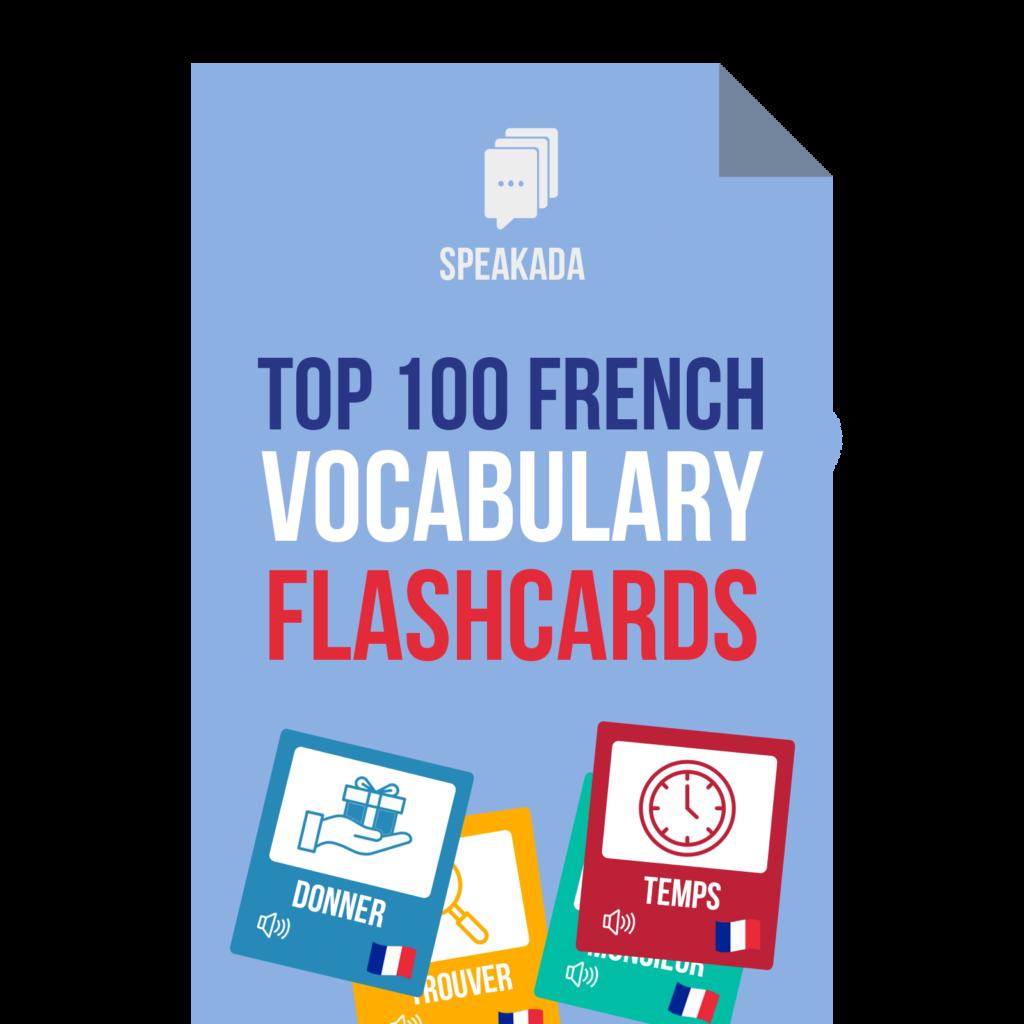 Anki French Vocabulary Flashcards for Beginners | SPEAKADA