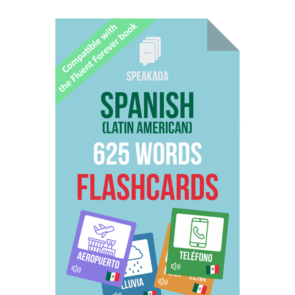 625 Spanish Words Flashcards For Fluent Forever 625 Speakada There is a letter g, but it is pronounced as a hard g, not. speakada com